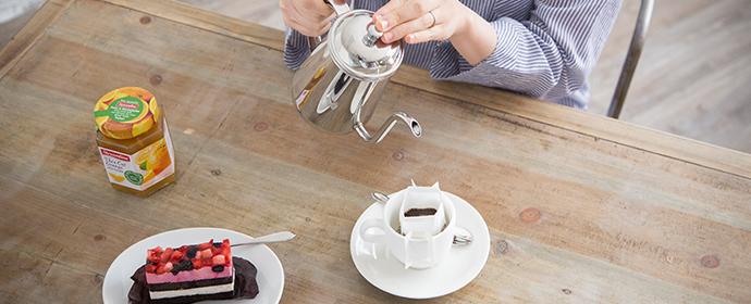 粗供養とコーヒー